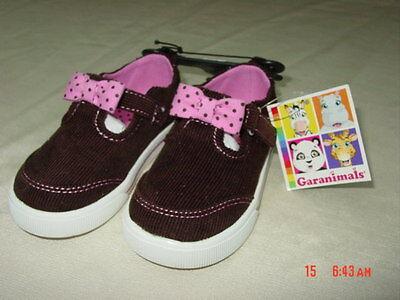 (NWT Infant Toddler Girls Garanimals Pink Brown Corduroy Casual Shoes Footwear)