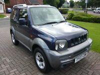 2007 (07 Reg) Suzuki Jimny 1.3 JLX PLUS Blue 3dr 4WD Estate Petrol Manual