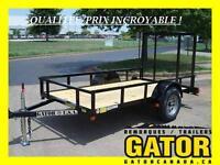 REMORQUE GATOR UTILITAIRE 5' X 10' --- IDEAL VTT