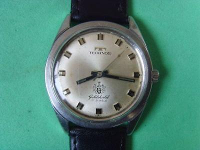 Vintage Swiss Technos 17J Mechanical Manual Used Watch