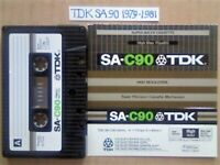 A2Z GUARANTEED TDK SA 90 1979-81 SUPER AVILYN CHROME CASSETTE TAPES W/ CCLs & FREE P&P 20102