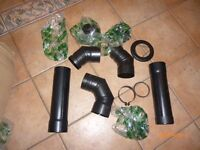 ASSORTED PIPES TO FIT PELLET BURNER OR GAS STOVE