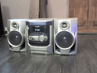 100W Sharp Stereo Speakers + a FREE Music Centre