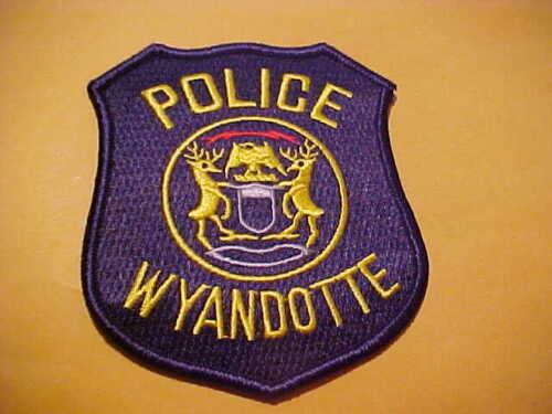 WYANDOTTE MICHIGAN POLICE PATCH SHOULDER SIZE UNUSED