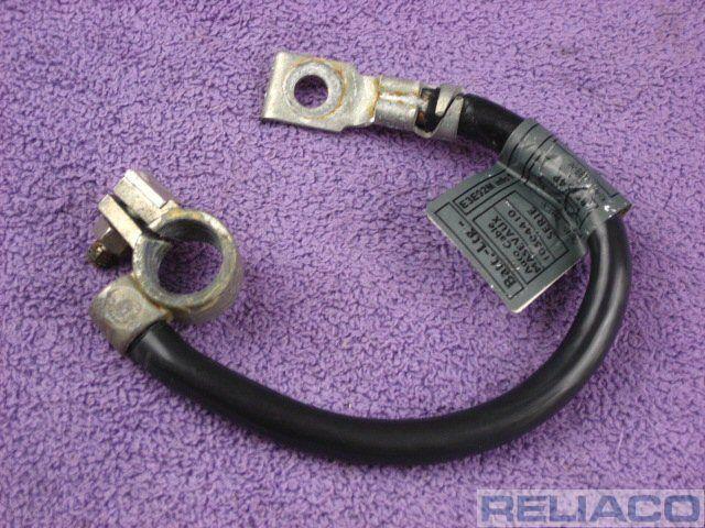 """Cable de 18 /""""de 46 cm Tierra Correa terminal negativo Batería Cable De Plomo Nuevo"""