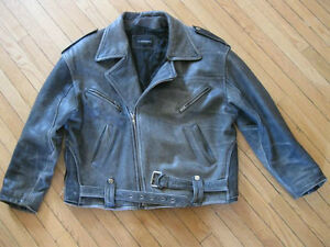 Man or Woman - Leather Jacket - Black