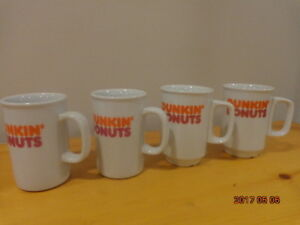 DUNKIN' DONUTS Mugs: 4 Collectible Mugs for $10!  Fun Gift!