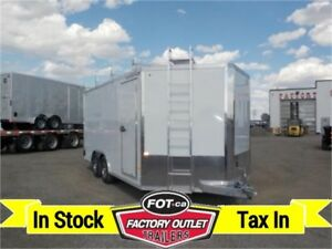 8x16 ENCLOSED Ultimate Contractor Trailer by Alcom All-Aluminum!