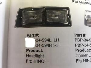HINO HEADLIGHT ASSY WITH BEZEL  FE2620 FB1817 SG3325 FD2220