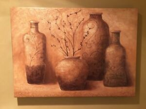 Tuscan wall art canvas picture, in perfect condition, $25