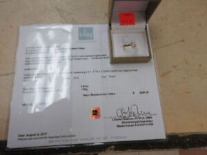 **14KT BEAUTY** 14KT appraised yellow gold solitaire ring