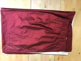 Two Pairs of Red 100% Silk Curtains
