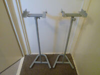 A Pair of Silver Speaker Stands (Surround Sound)