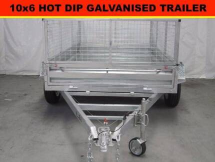 10x6 Tandem Trailers Hot Dip Galvanised, With 5 Brand New Tyres