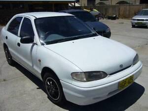 1996 Hyundai Excel Sedan Wangara Wanneroo Area Preview