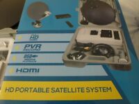 BRAND NEW PORTABLE SATELLITE SYSTEM. 12v / 240 v---COMPLETE SYSTEM