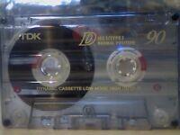 TDK D 90 CASSETTE TAPES, GOOD CONDITION.