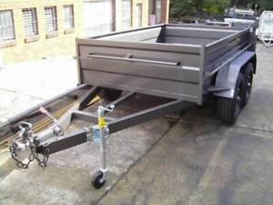 Brand new 8x5 heavy duty high side tandem trailer