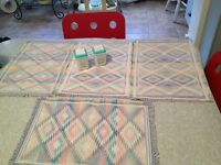 4 Vintage Kitchen Placemats. Never Used. Mint!!