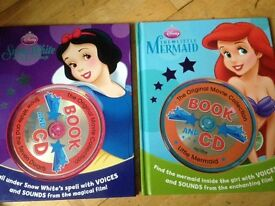 2 Disney book and cd sets. As new