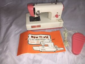 "Vintage Crystal b/o Toy Sewing Machine ""Re-70""A series"