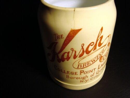 Circa 1910 College Point Lager Beer Ceramic Mug, Karsch Brewing, New York