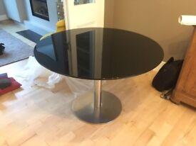 BARGAIN! Black Habitat Glass Table