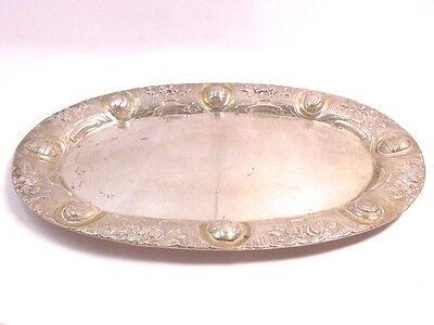 Silber Tablett tray 800 SILBER silver Schale bowl Blumen flower plata bandeja