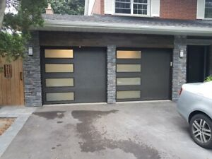 Garage door insulated; frosted side windows; installed $1199