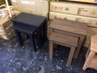 nest of tables in black or walnut new inbox viewing welcome