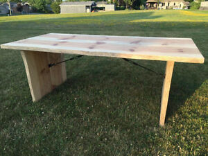 Live Edge Red Pine Kitchen Table