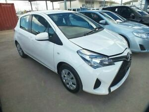 2015 Toyota Yaris NCP130R Ascent White 4 Speed Automatic Hatchback Bungalow Cairns City Preview