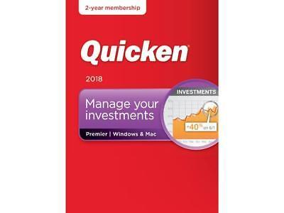 Quicken Premier 2018   Windows Mac   2 Year Subscription