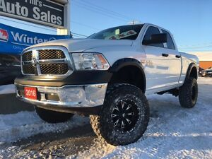 2016 Ram 1500 SXT 4X4 // LIFTED // ONLY 2,000KMS!! LIKE NEW!!