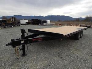NEW 2017 14,000# 20' HEAVY DUTY EQUIPMENT DECKOVER TRAILER