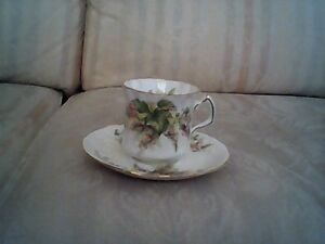 Antique English Bone China Teacup & Saucer by Hammersley & Co.