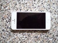 Silver iPhone 5 16GB On O2
