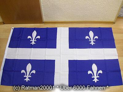 Fahnen Flagge Quebec - 90 x 150 cm
