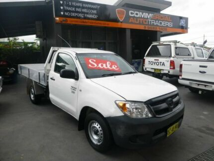 2007 Toyota Hilux TGN16R MY07 Workmate White 5 Speed Manual Cab Chassis