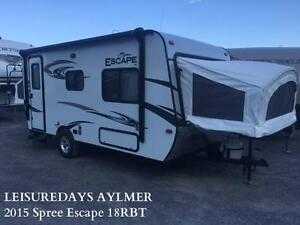 AYLMER 2015 KZ-RV Spree Escape 18RBT **FINANCMENT DISPONIBLE**
