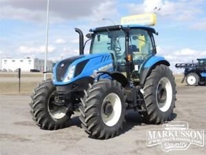 2017 NH T6.155 Tractor - 105 PTO HP, 3pt. hitch, 835TL loader