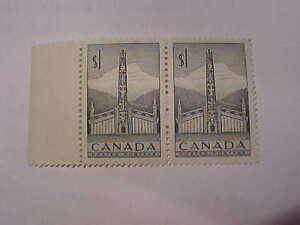 Pair Of Totem Pole Stamps MNH Book $30.00 # 321 Feb 2 1953!!
