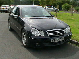 07 MERCEDES BENZ C180 KOMPRESSOR AVANTGARDE SE AUTOMATIC 4 DOOR SALOON IN BLACK