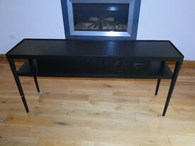 Ikea 'Stockholm' console table in brown/black excellent condition