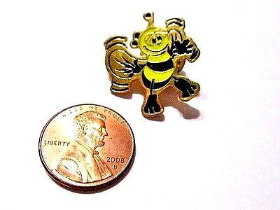 NEW OLD STOCK ANIMATED BLACK YELLOW ENAMEL BUMBLE BEE PIN CARTOON W FEET VINTAGE - Old Cartoon Costumes