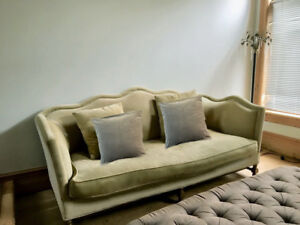 velvet french style couch