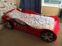 Full size single racing car bed