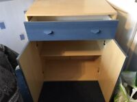 Set of draws with cupboard - Blue