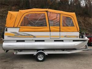***RARE YELLOW**2006 18' PRINCECRAFT PONTOON FULL ENCLOSURE 60HP