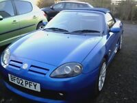 MG TF Convertible 1.8 (135ps) Trophy Blue. 2002. ONLY 62K. Long MOT.